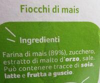 Fiocchi di mais Corn flakes - Ingredients - it
