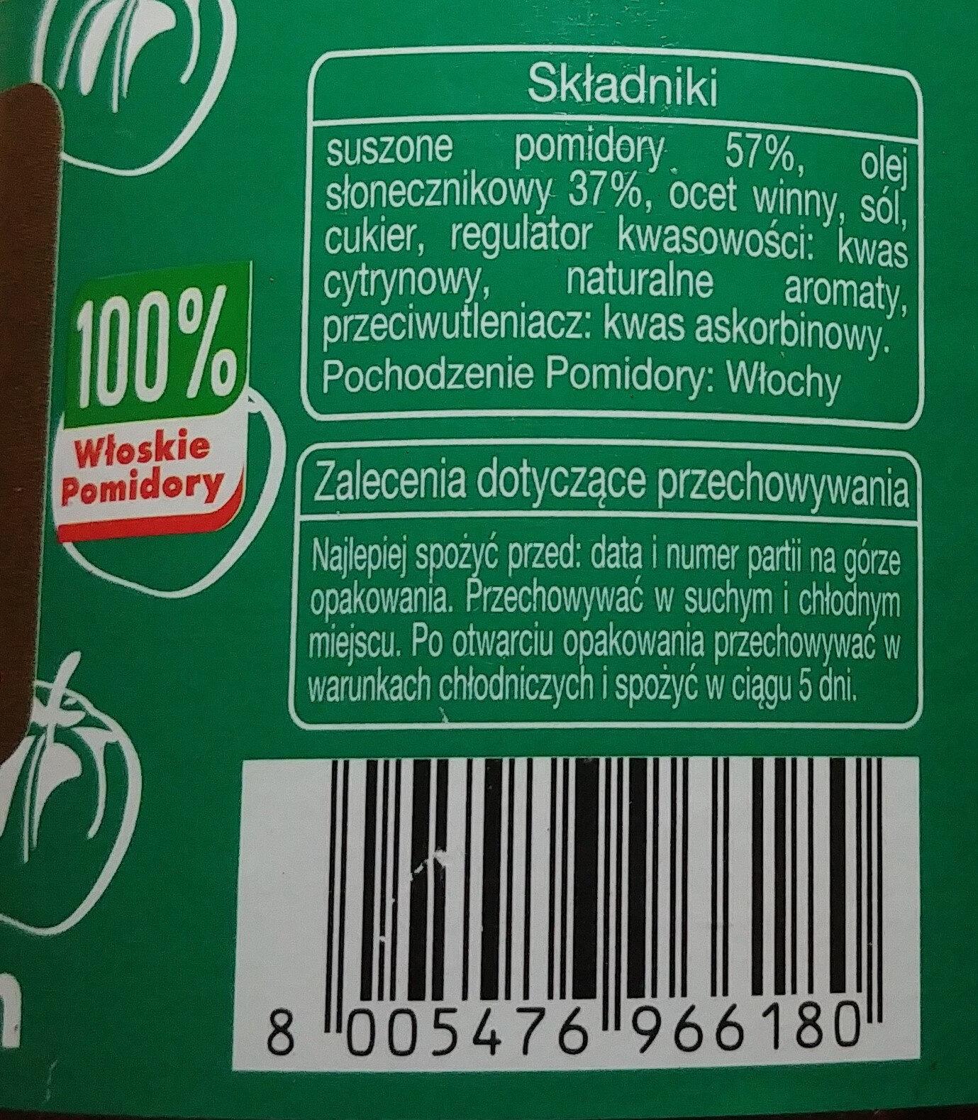 Suszone pomidory w oleju słonecznikowym. - Składniki