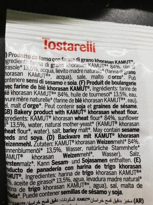 Biscopan PanKamut Tostarelli - Ingredienti - it