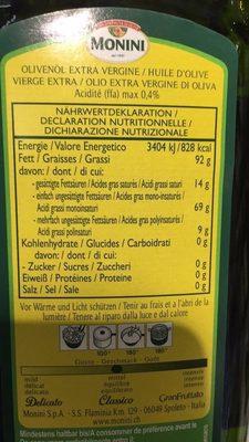 Monini classico Olio extra vergine - Nutrition facts