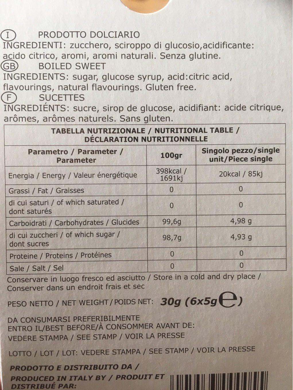 Ciuccetto - Informations nutritionnelles - fr
