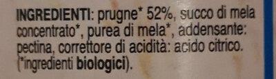 BIOfrutta Prugne - Ingredients