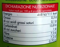 Borlotti Fagioli lessati - Nutrition facts