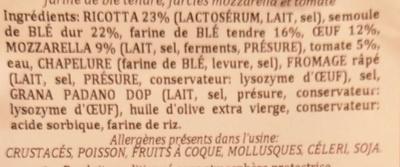 Tournesols Mozzarella Tomate - Ingredients - fr