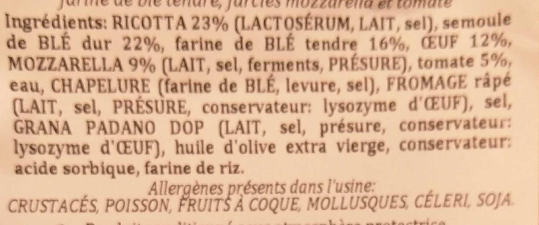 Tournesols Mozzarella Tomate - Ingrediënten - fr