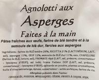 Agnolotti aux asperges - Ingrédients