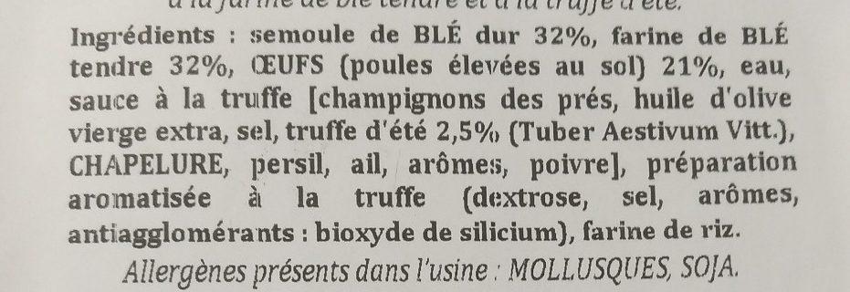 Tagliatelle à la Truffe d'Été 2,5 % - Ingrediënten