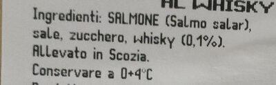 Salmone scozzese al whisky - Ingredients - it