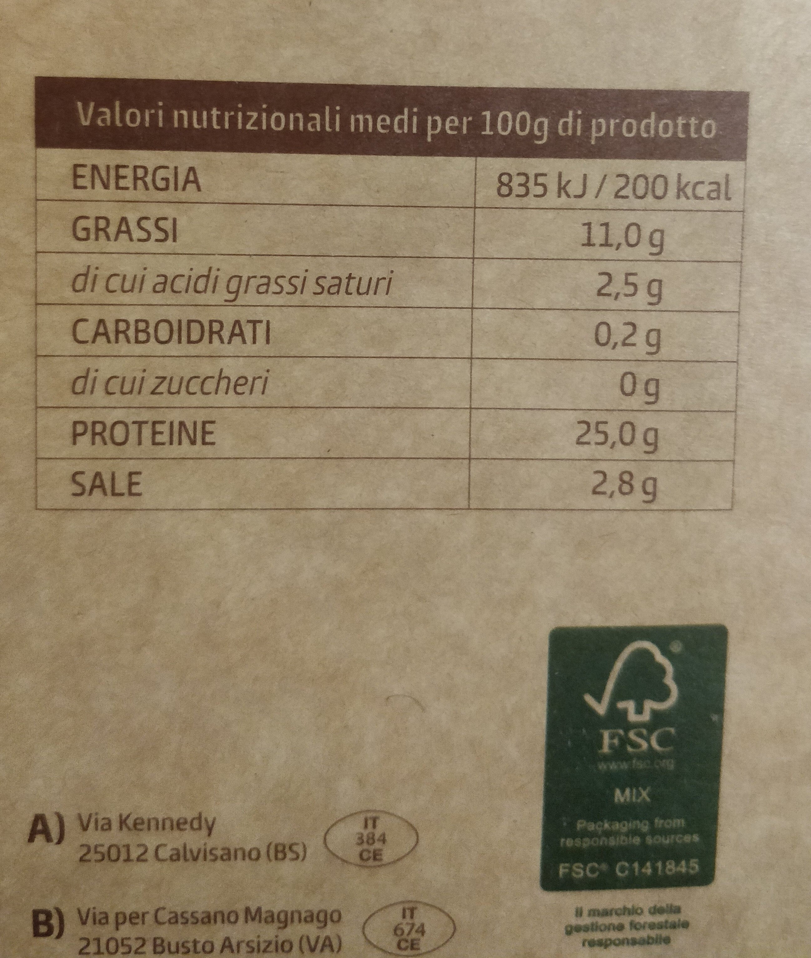 Salmone scozzese al whisky - Nutrition facts - it
