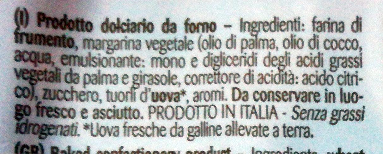 Canestrellini - Ingredienti - it