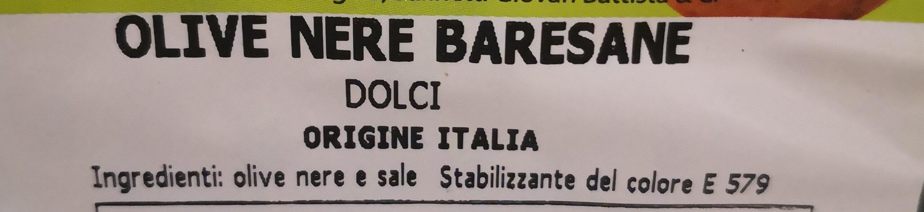 Olive nere baresane - Ingredients