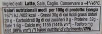 Parmigiano reggiano oltre 30 mesi DOP - Valori nutrizionali - fr