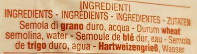 Fregola Media 500GR. - Ingredients