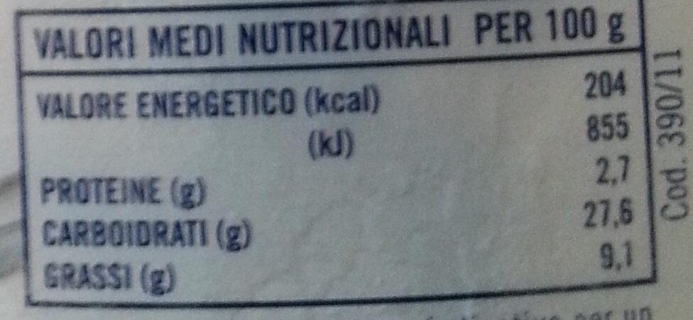 affogato al caffè - Nutrition facts - it