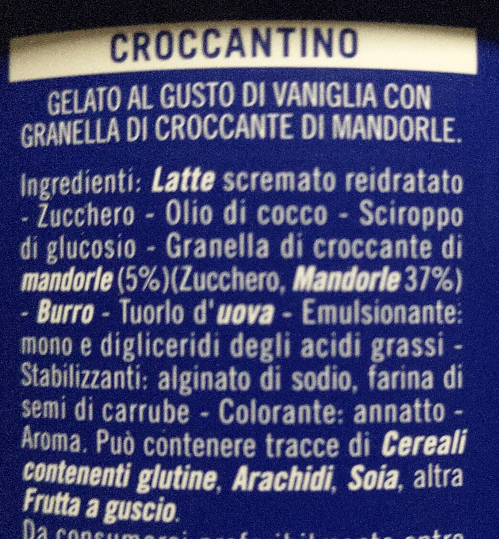 Croccantino - Ingredients