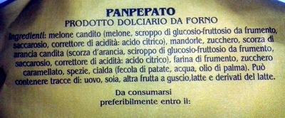 Panpepato - Ingrédients - it