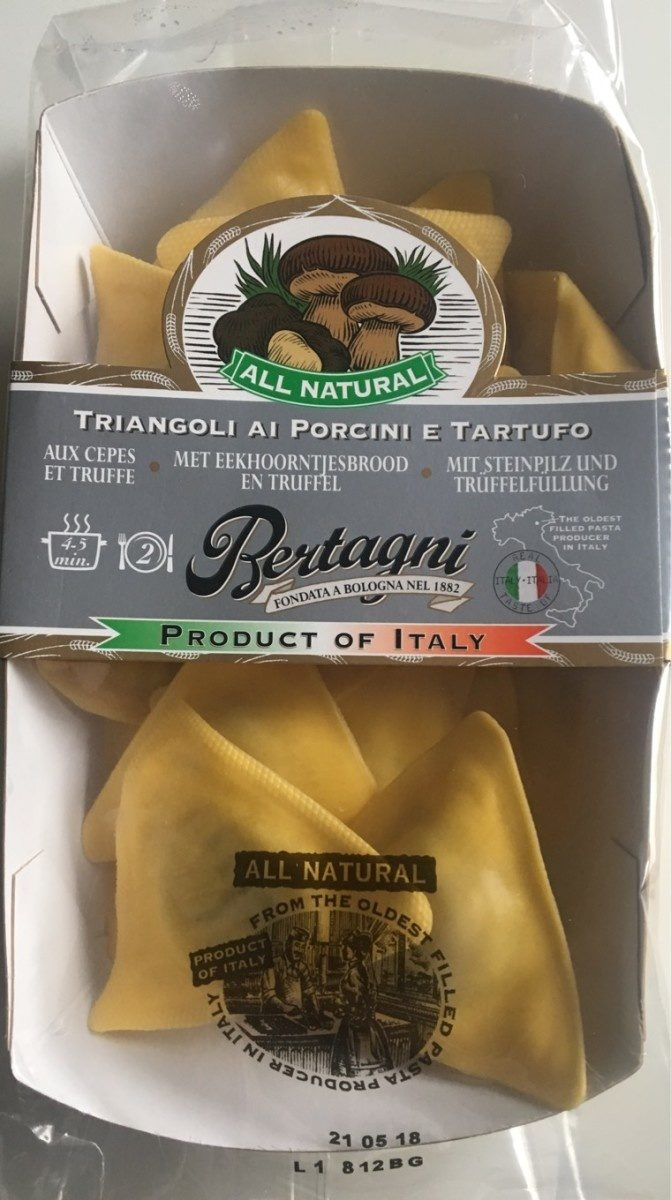 Bertagni Triangles With Porcini Mushrooms And Truffle - Product - fr
