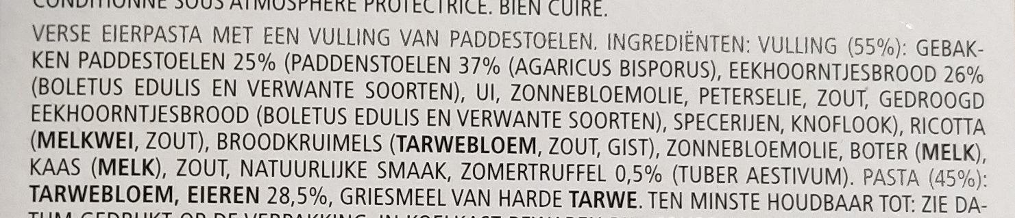 Bertagni Triangles With Porcini Mushrooms And Truffle - Ingrediënten - nl