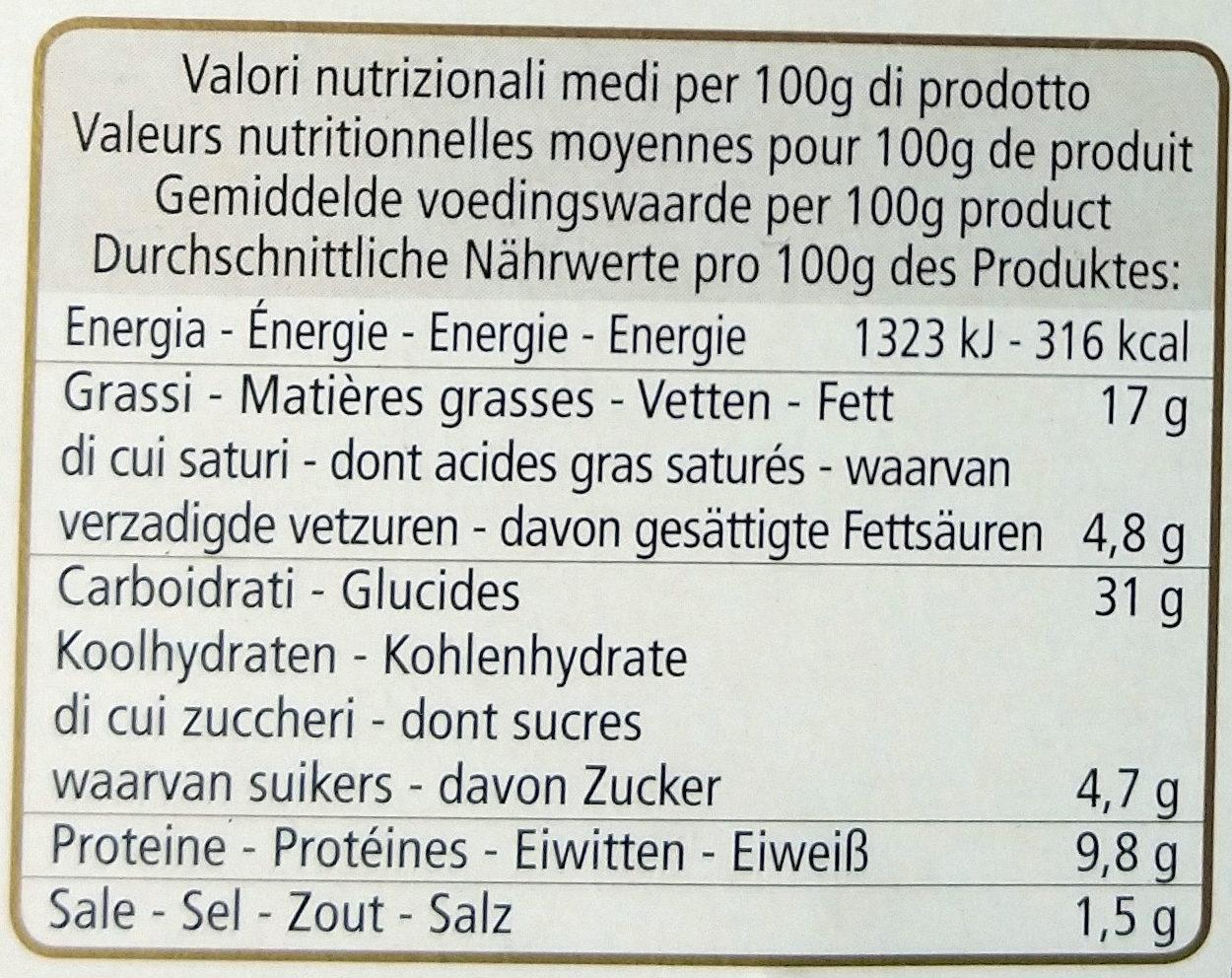 Mezzelune al salmone - Informations nutritionnelles - fr