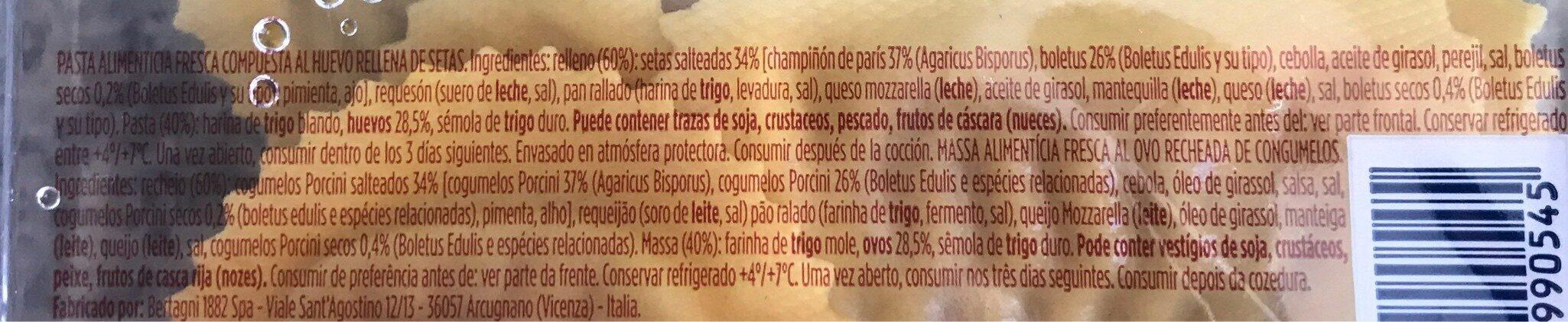 Ravioli - Ingrédients - es