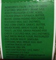 Ricota and Spinach Grandi Ravioli - Ingredients - en