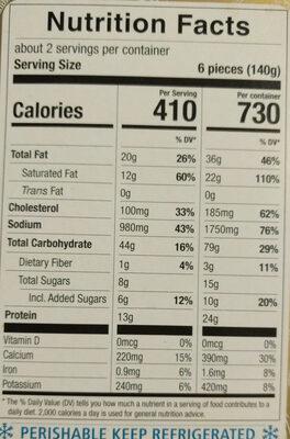 Ricota and Spinach Grandi Ravioli - Nutrition facts - en