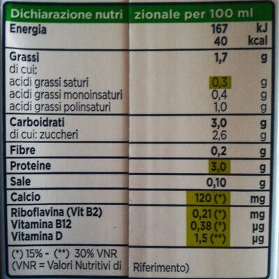 Valsoia Soya Morbido - Informations nutritionnelles - it