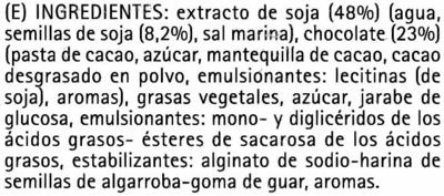 Polos de soja recubiertos con chocolate - Ingredientes - es