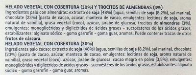 Il Gelato 4 Minibombones - Ingredientes