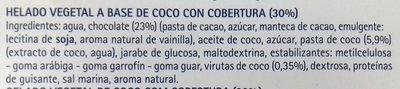 Gelato a base de coco - Ingredientes - es