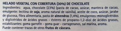 Il Gelato base Mandorla Ricoperto al cioccolato 4 Mini Stecchi - Ingredientes