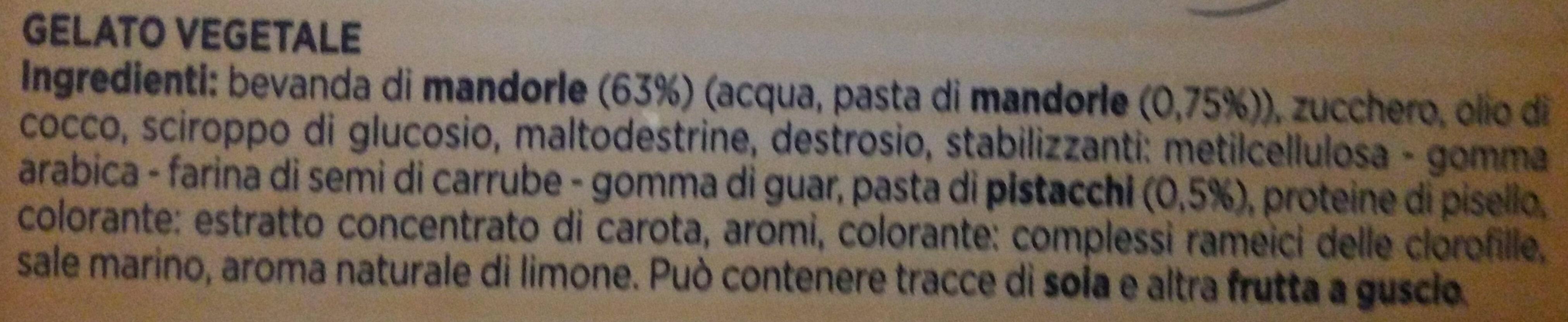Helado de pistacho y crema - Ingredienti - it
