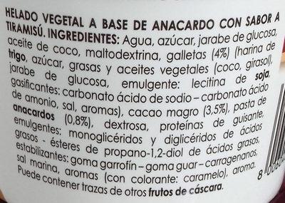 Helado de Tiramisú - Ingredientes