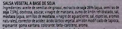 Maionese senza uova con soia Condisoia - Ingredients