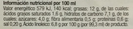 Avena da Cucina - Informations nutritionnelles - es