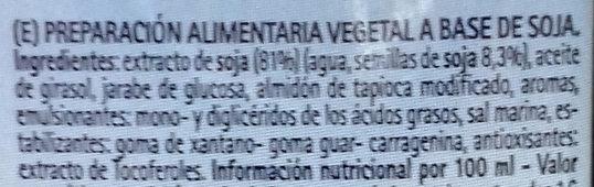 Soya Cuisine - Ingrediënten