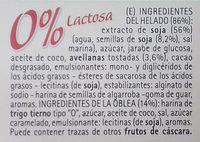 Bonta' e Salute Il Gelato 4 Cones Vegetal - Ingredientes - es