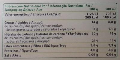Il Gelato 4 Cones Vegetal - Nutrition facts