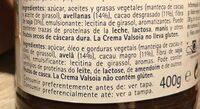 Valsoia crema vegetal cacao - Ingredientes - en