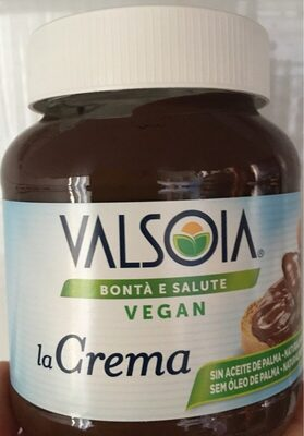 Valsoia crema vegetal cacao - Información nutricional