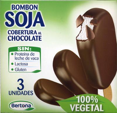 Bombón soja con cobertura al chocolate - Product