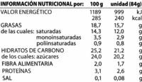 Bombón soja con cobertura al chocolate - Nutrition facts