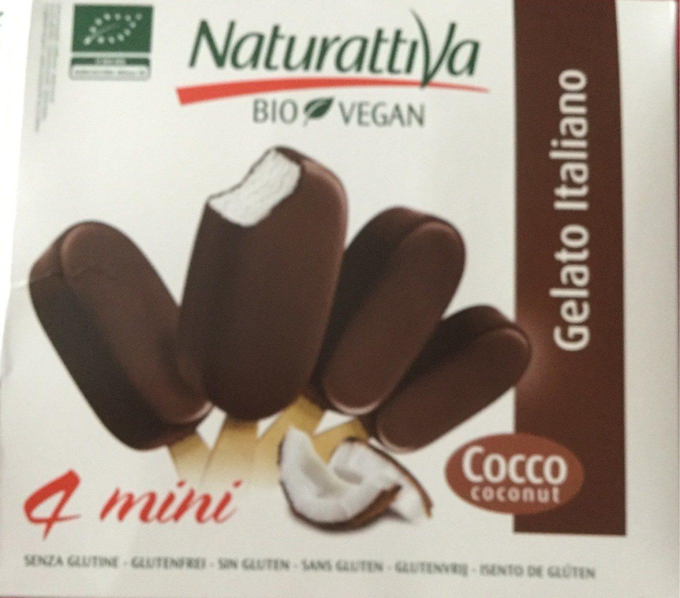 4 Mini Gelato Italiano Bio Vegan Cocco - Producto