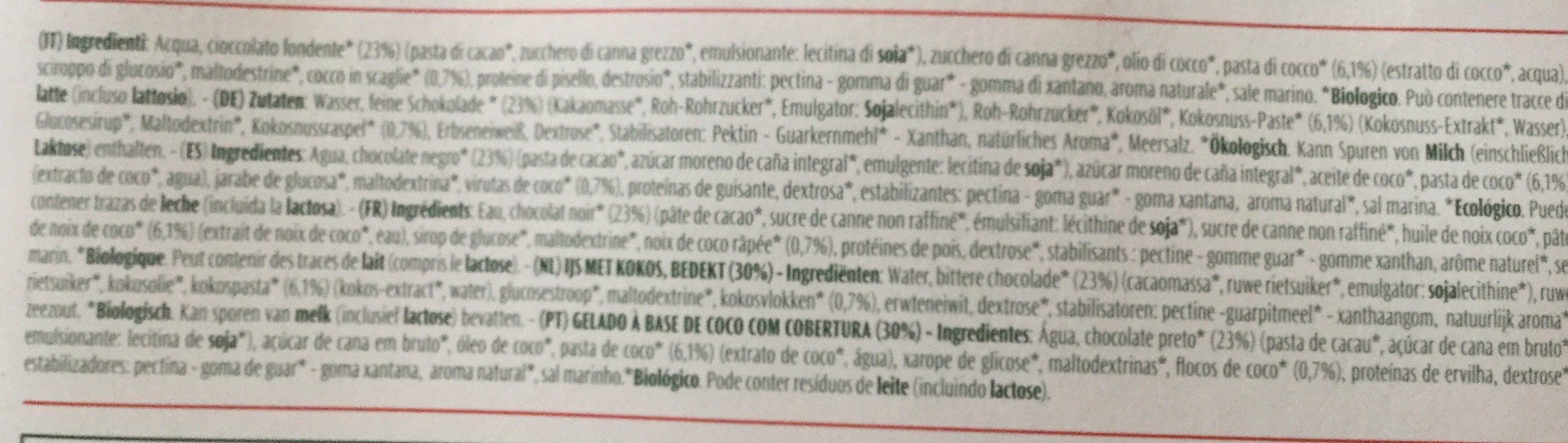 Gelato italiano - Inhaltsstoffe - fr