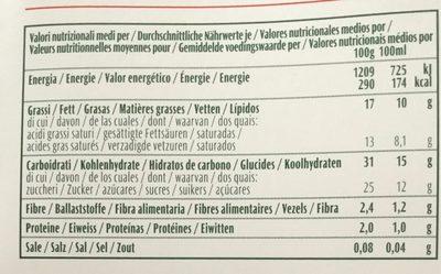 4 Mini Gelato Italiano Bio Vegan Cocco - Información nutricional