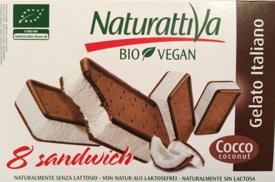 8 Sandwich Gelato Italiano Bio Vegan - Producte