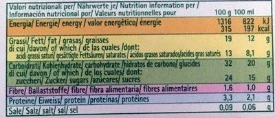Cônes Soja Chocolat - Información nutricional