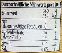 Aceto Balsamico di Modena I.G.P - Nutrition facts - de