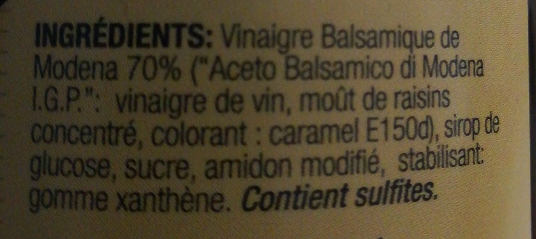 Cremoso - Ingredients - fr