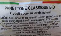 Panettone Pur Beurre - Ingrédients - fr